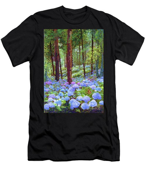 Endless Summer Blue Hydrangeas Men's T-Shirt (Athletic Fit)