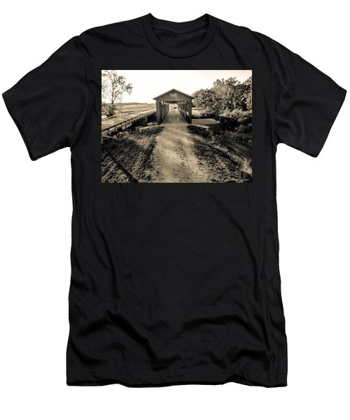 Engle Mill Covered Bridge Men's T-Shirt (Athletic Fit)