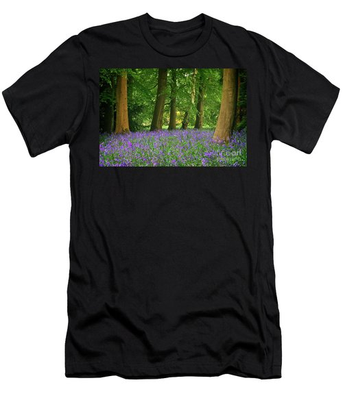 English Bluebell Woodland Men's T-Shirt (Athletic Fit)