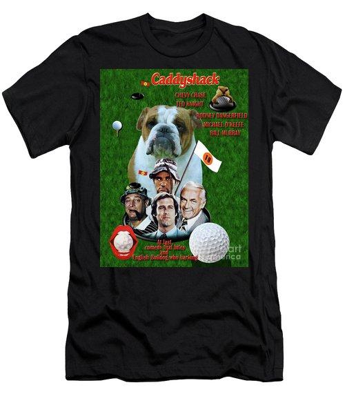 English Bulldog Art Canvas Print - Caddyshack Movie Poster Men's T-Shirt (Athletic Fit)