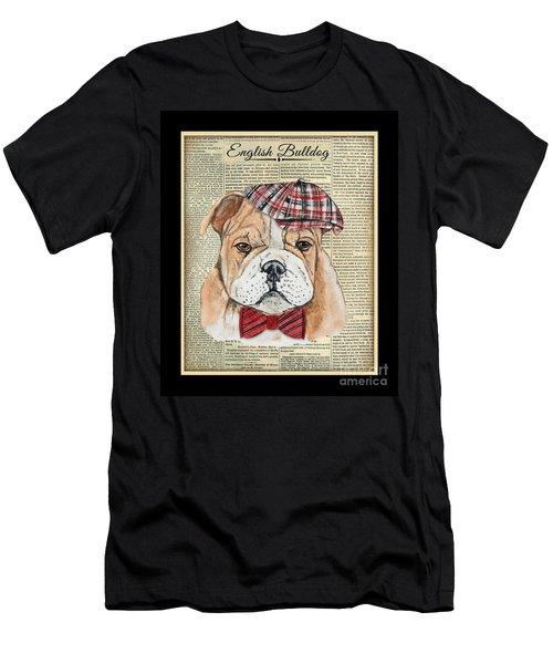 English Bulldog-jp3858 Men's T-Shirt (Athletic Fit)