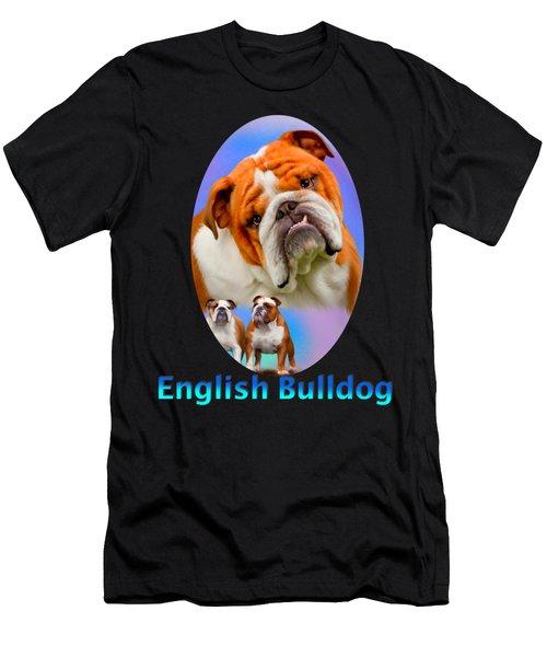 English Bulldog With Border Men's T-Shirt (Athletic Fit)