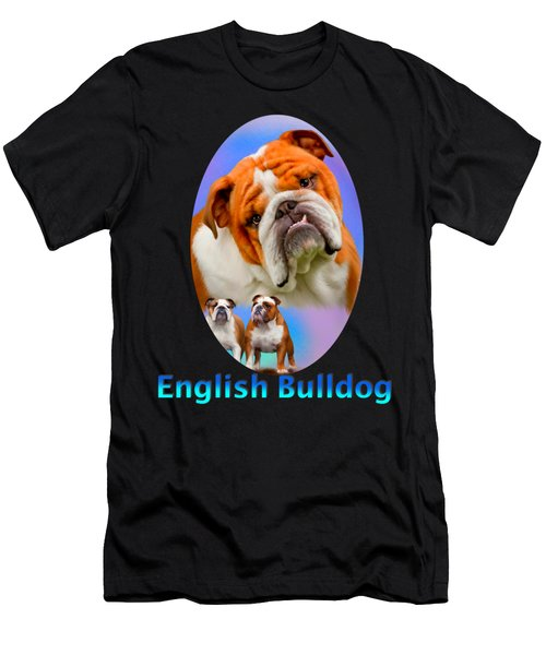 English Bulldog With Border Men's T-Shirt (Athletic Fit)