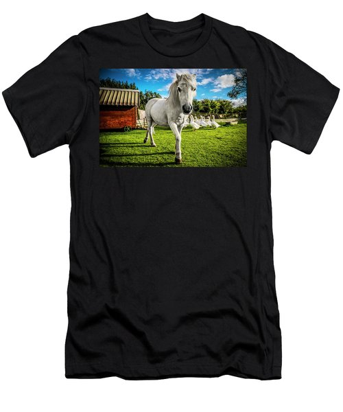 Men's T-Shirt (Athletic Fit) featuring the photograph English Gypsy Horse by Jennifer Wright