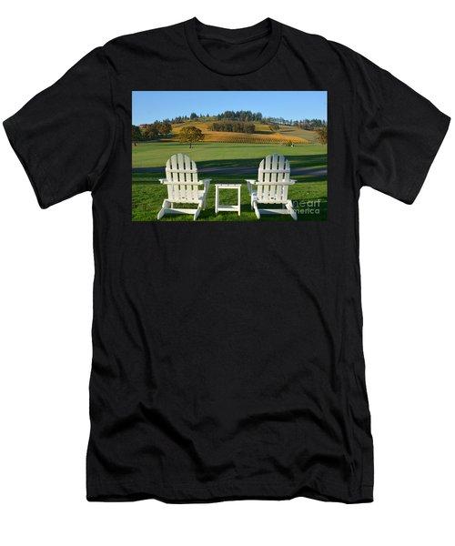 Enjoying Oregon Wine Country Men's T-Shirt (Athletic Fit)