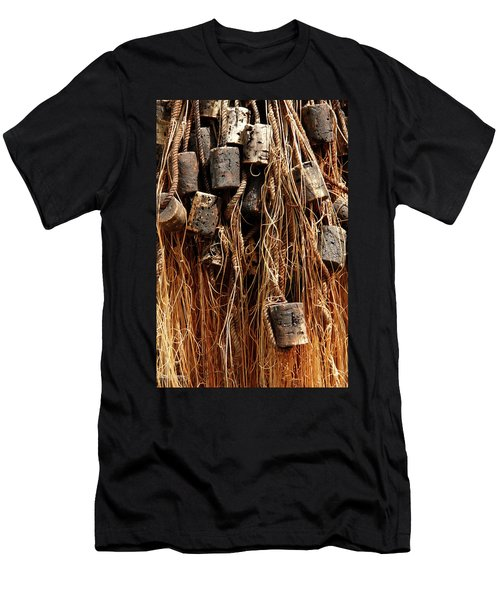 Men's T-Shirt (Slim Fit) featuring the photograph Enkhuizen Fishing Nets by KG Thienemann