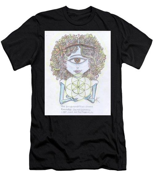 Enlightened Alien Men's T-Shirt (Athletic Fit)