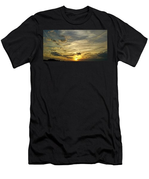 Men's T-Shirt (Athletic Fit) featuring the photograph Enter The Evening by Robert Knight