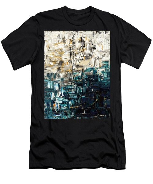 Men's T-Shirt (Slim Fit) featuring the painting Envisioning by Carmen Guedez