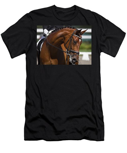 Men's T-Shirt (Slim Fit) featuring the photograph Equestrian At Work D4913 by Wes and Dotty Weber