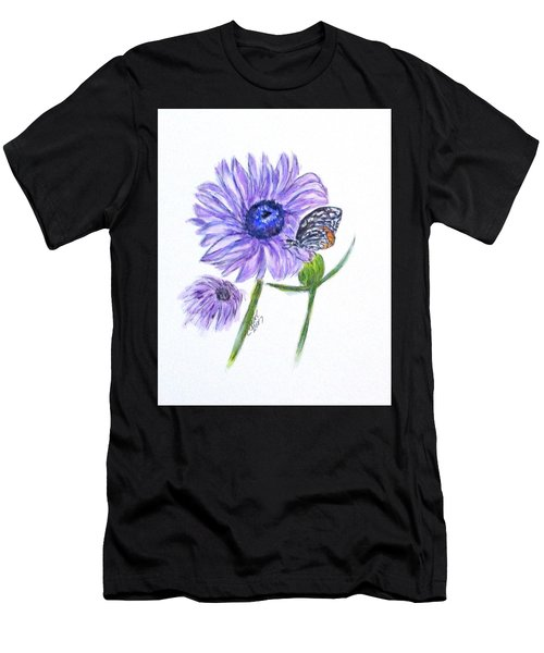 Erika's Butterfly Three Men's T-Shirt (Athletic Fit)
