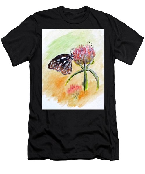 Erika's Butterfly Two Men's T-Shirt (Athletic Fit)