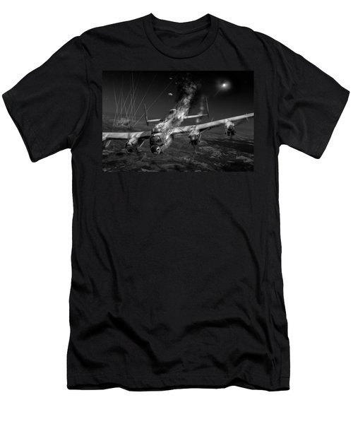 Escape At Mailly Black And White Version Men's T-Shirt (Athletic Fit)