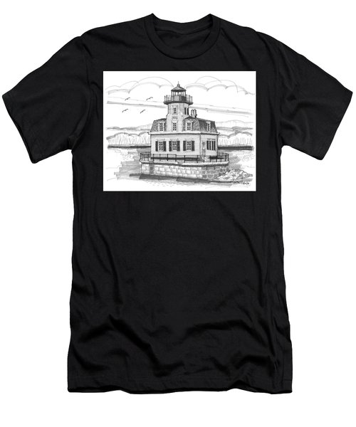 Esopus Meadows Lighthouse Men's T-Shirt (Athletic Fit)