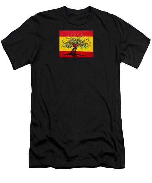Espana Love Tree Men's T-Shirt (Athletic Fit)