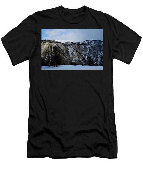 Men's T-Shirt (Athletic Fit) featuring the photograph Eternal Snow Mountain by August Timmermans
