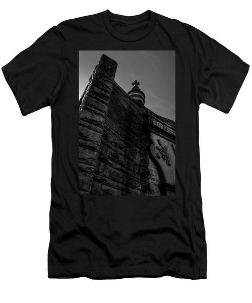 Eternal Stone Structure Bw Men's T-Shirt (Athletic Fit)