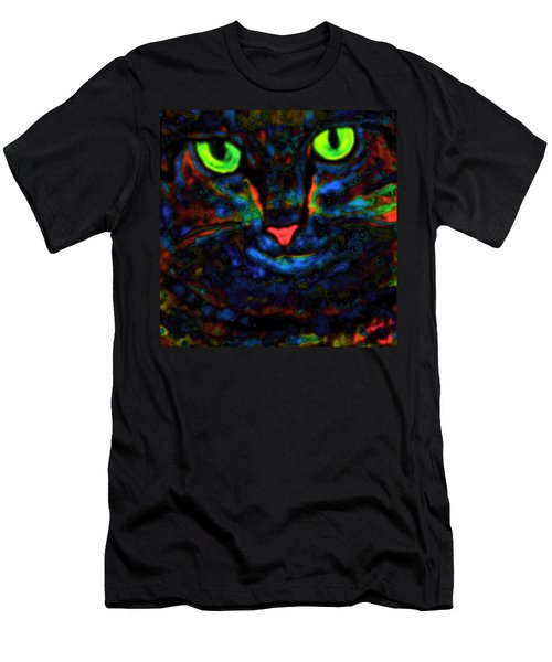 Ethical Kitty See's Your Dilemma Light 2 Dark Version Men's T-Shirt (Slim Fit) by Lisa Brandel
