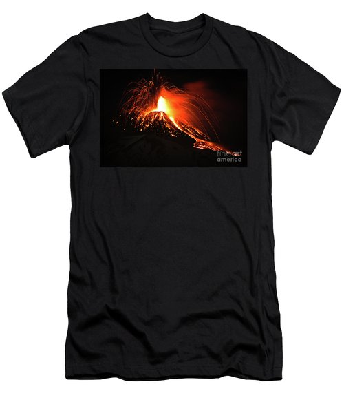 Italy, Sicily,etna Men's T-Shirt (Athletic Fit)