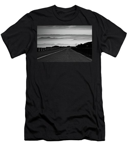Men's T-Shirt (Slim Fit) featuring the photograph Etna Road by Bruno Spagnolo