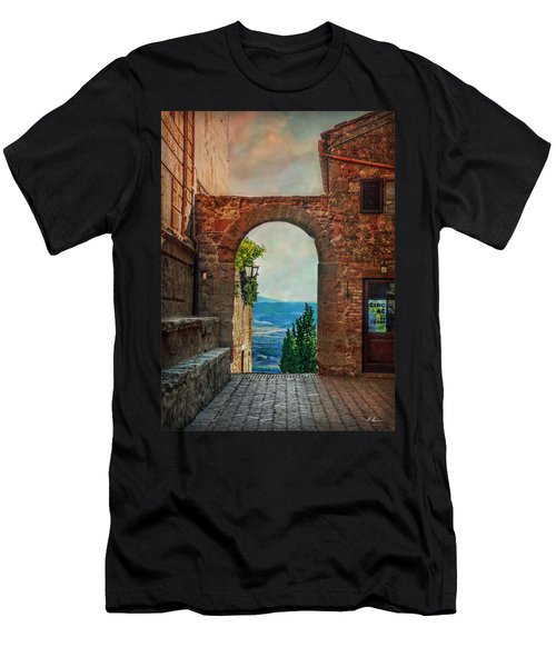 Men's T-Shirt (Slim Fit) featuring the photograph Etruscan Arch by Hanny Heim