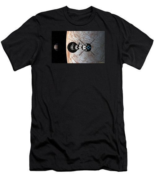Men's T-Shirt (Slim Fit) featuring the digital art Europa Insertion by David Robinson