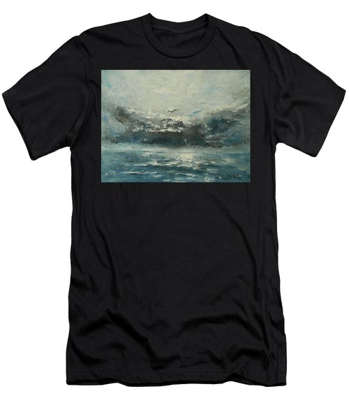 Even If The Skies Get Rough Men's T-Shirt (Slim Fit) by Jane See