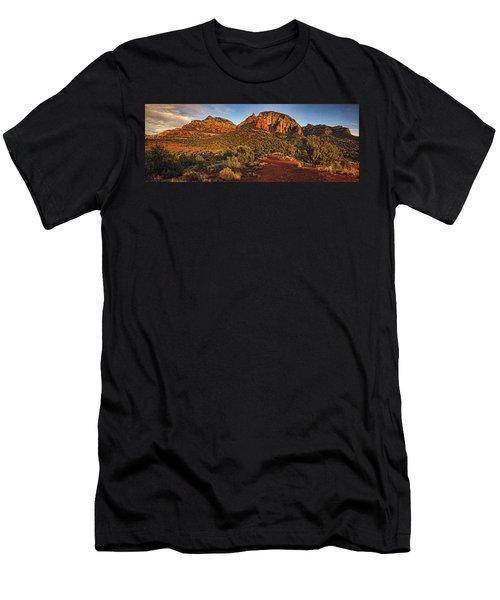Evening At Dry Creek Vista Txt Men's T-Shirt (Athletic Fit)