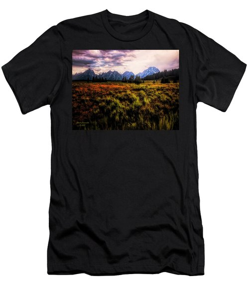 Evening At The Grand Tetons  ... Men's T-Shirt (Athletic Fit)