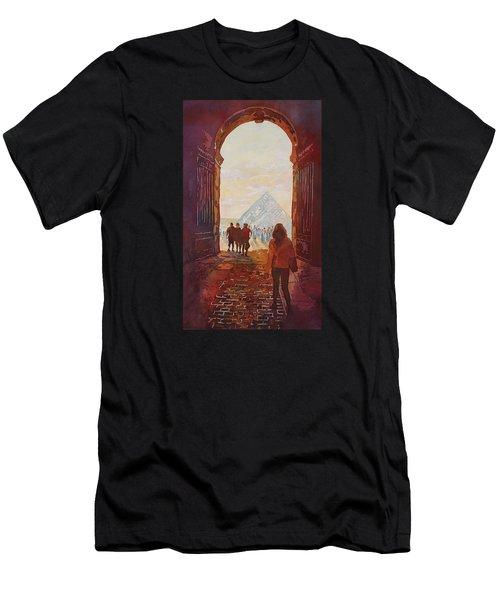 Evening At The Louvre Men's T-Shirt (Athletic Fit)