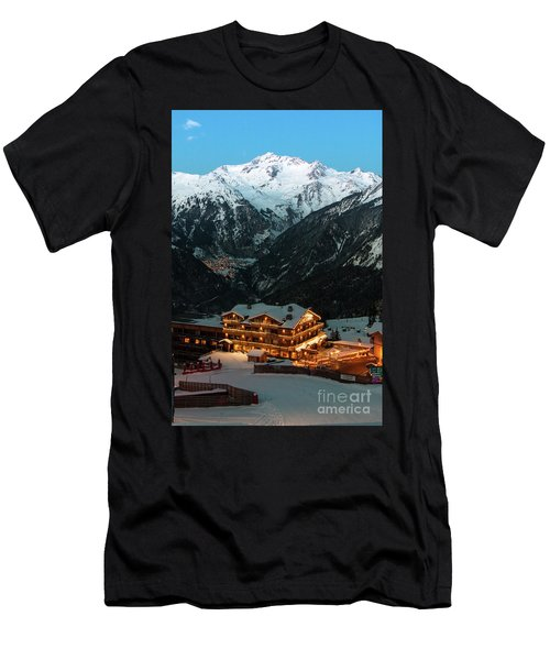 Evening Comes In Courchevel Men's T-Shirt (Athletic Fit)