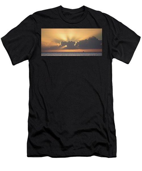 Evening Fishing Men's T-Shirt (Athletic Fit)