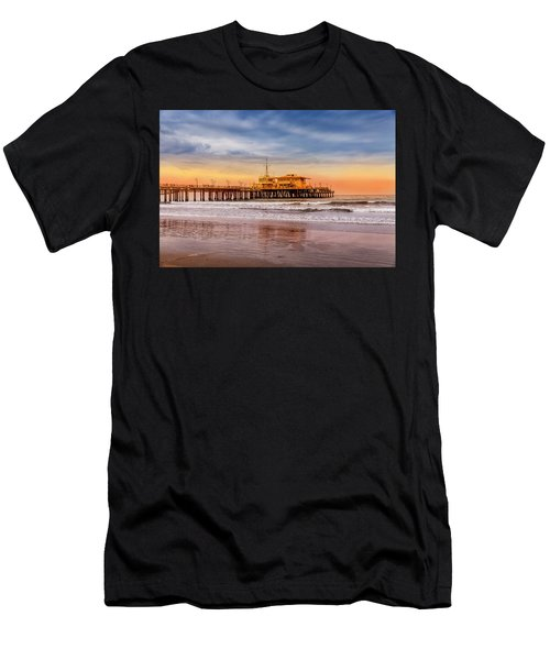 Evening Glow At The Pier Men's T-Shirt (Athletic Fit)