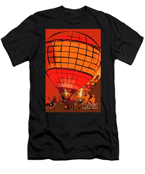 Evening Glow Red And Yellow In Abstract Men's T-Shirt (Athletic Fit)
