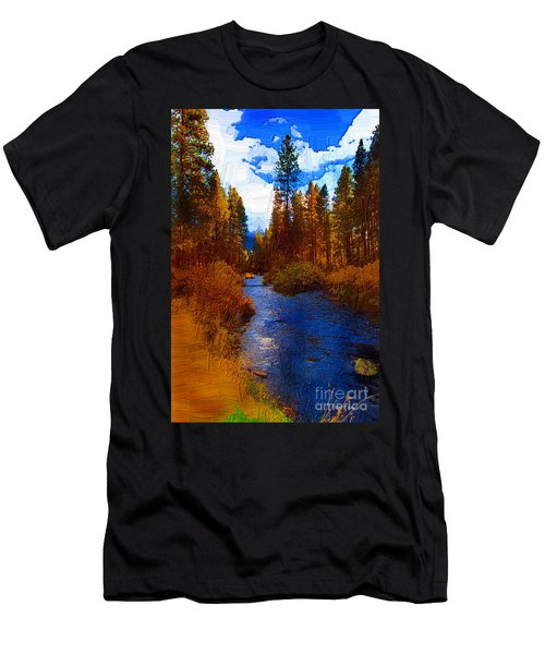 Evening Hatch On The Metolius Painting Men's T-Shirt (Athletic Fit)