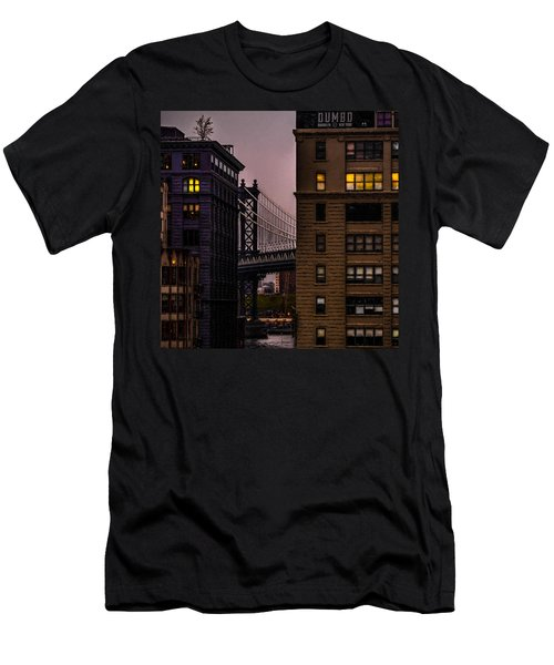 Men's T-Shirt (Athletic Fit) featuring the photograph Evening In Dumbo by Chris Lord