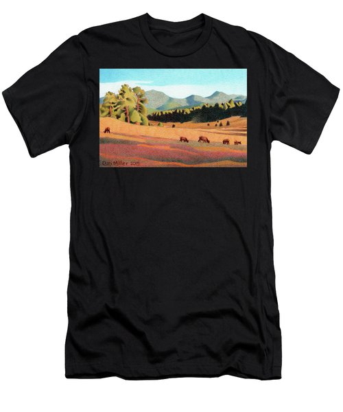 Evening Light Evergreen Men's T-Shirt (Athletic Fit)