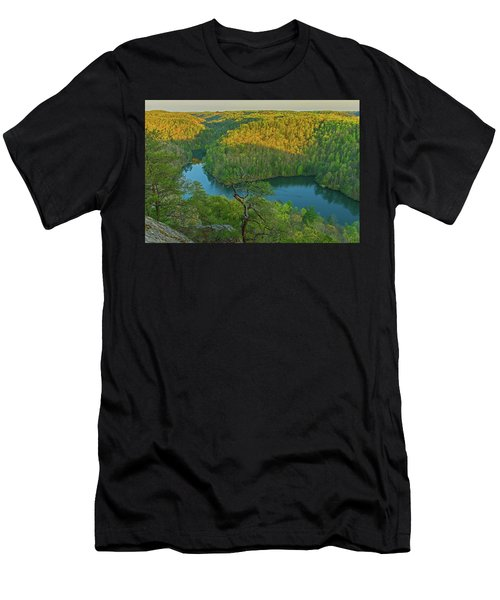 Evening Light In The Hills. Men's T-Shirt (Athletic Fit)