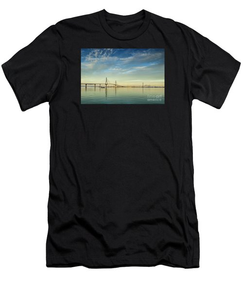 Evening Lights On The Bay Cadiz Spain Men's T-Shirt (Athletic Fit)