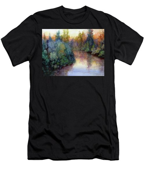 Evening On The Willamette Men's T-Shirt (Athletic Fit)
