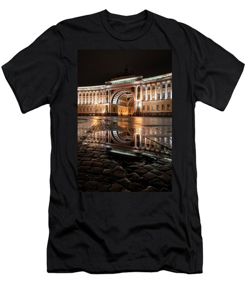 Men's T-Shirt (Athletic Fit) featuring the photograph Evening Reflections by Jaroslaw Blaminsky