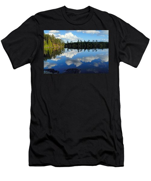 Evening Reflections On Spoon Lake Men's T-Shirt (Slim Fit) by Larry Ricker