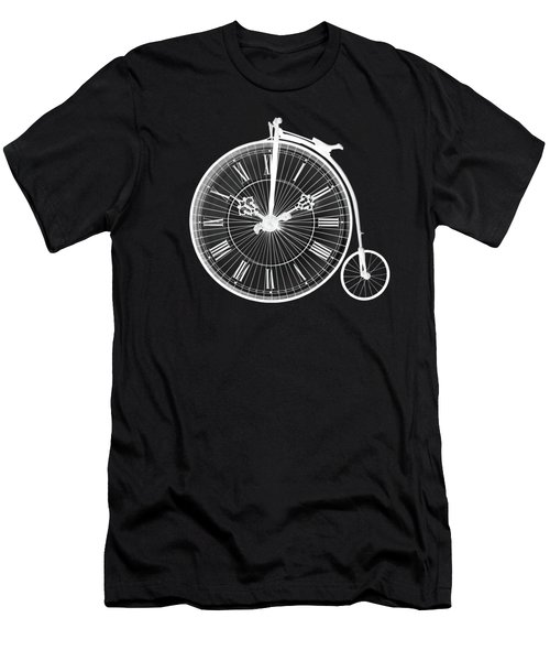 Evening Ride Penny Farthing On Black Men's T-Shirt (Athletic Fit)