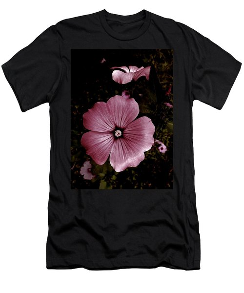 Evening Rose Mallow Men's T-Shirt (Slim Fit) by Danielle R T Haney