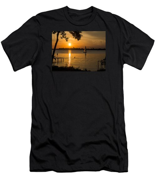 Evening Sail - Madison - Wisconsin Men's T-Shirt (Athletic Fit)