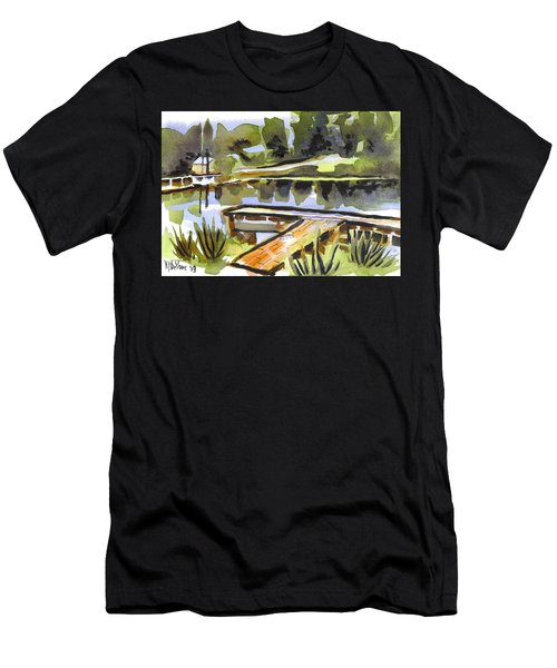 Evening Shadows At Shepherd Mountain Lake Men's T-Shirt (Athletic Fit)