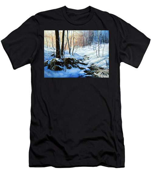 Men's T-Shirt (Athletic Fit) featuring the painting Evening Shadows by Hanne Lore Koehler