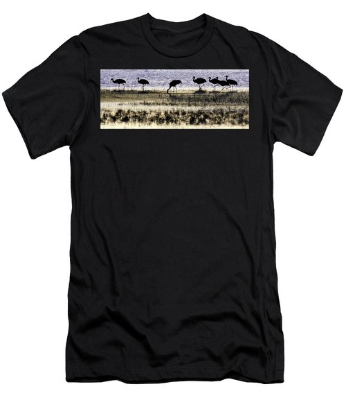 Men's T-Shirt (Athletic Fit) featuring the photograph Evening Silhouette by Marla Craven