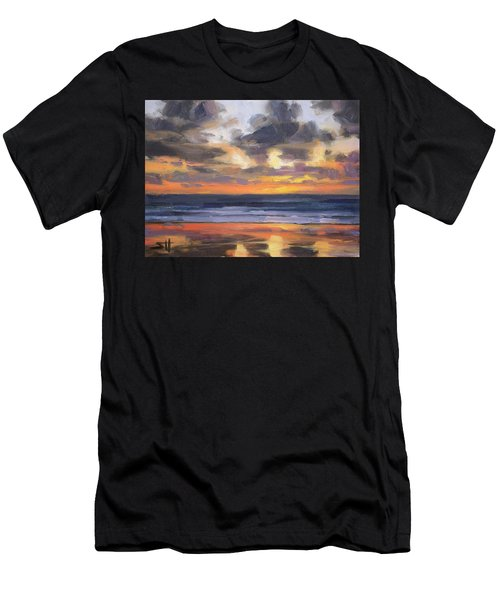 Men's T-Shirt (Athletic Fit) featuring the painting Eventide by Steve Henderson