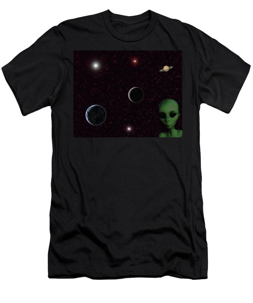 Men's T-Shirt (Athletic Fit) featuring the digital art Ever Wonder What Is Out There by Anthony Murphy